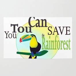 You TouCan Save The Rainforest Rug
