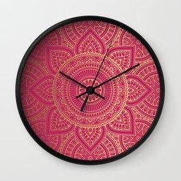 Gold Mandala 10 Wall Clock