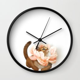 The king of flowers Wall Clock