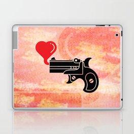 Pistol Blowing Bubbles of Love Laptop & iPad Skin
