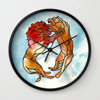lions Wall Clocks featuring Lions by madbiffymorghulis