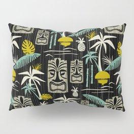 Island Tiki - Black Pillow Sham