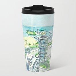 Aerial View of Downtown Long Beach Travel Mug