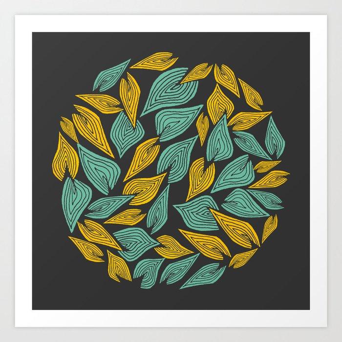 Autumn Wind Art Print