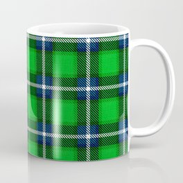 Scottish Tartan Blue and Green Coffee Mug