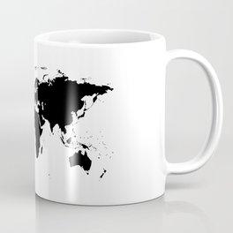 Black Ink World Map Coffee Mug