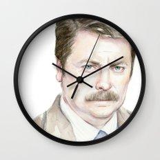 Swanson Watercolor Ron Wall Clock