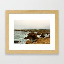 Rocky coastline Framed Art Print