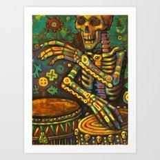 Death Drums Art Print