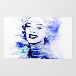 Marilyn Blue pop art derivative work Rug