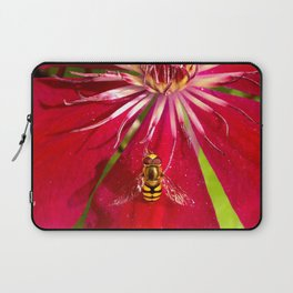 Flowers & bugs RED PASSION FLOWER & HOVERFLY Laptop Sleeve