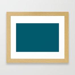 Best Seller Sherwin Williams Trending Colors of 2019 Oceanside (Dark Aqua Blue) SW 6496 Solid Color Framed Art Print