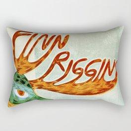 Finn Riggins gig poster Rectangular Pillow