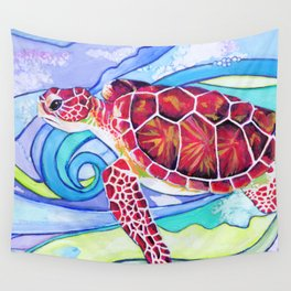Surfin' Turtle Wall Tapestry
