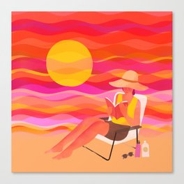 Summer Reading Canvas Print