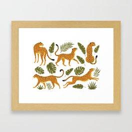 Leopard pattern Framed Art Print