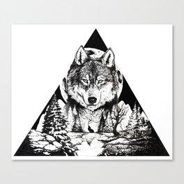 Wolf Triad Canvas Print