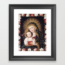 Madonna and Child with Bird, 1745 - Peru Framed Art Print