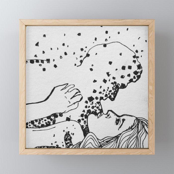 Stars and Ash Framed Mini Art Print