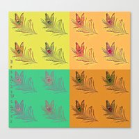 popart Canvas Prints featuring Feathers PopART by UnifiedGlory