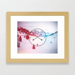 Crossed Arrows Framed Art Print