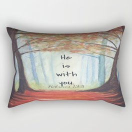 He is with you Rectangular Pillow