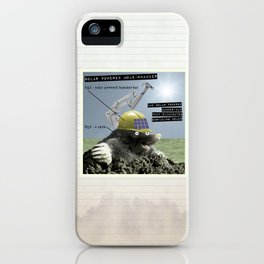 Solar Powered Mole-Whacker iPhone Case