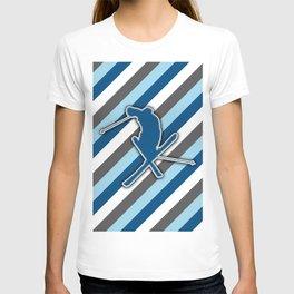 Snow Skiing Stunt Winter Sports Design Pattern T-shirt