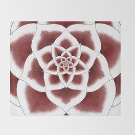 Stargazer Lily Mandala Throw Blanket
