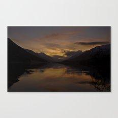 Sunset over Loch Doine, Scotland Canvas Print