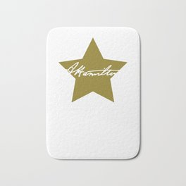 """Alexander Hamilton Tee Saying """"Those Who Stand For Nothing Fall For Nothing"""" T-shirt Design Bath Mat"""