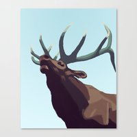 elk Canvas Prints featuring Elk by Of Newts and Nerds