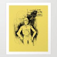 c3po Art Prints featuring C3PO by Samantha Chiusolo