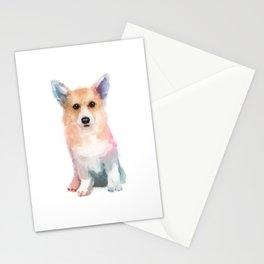 Corgi watercolor Stationery Cards