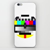 tv iPhone & iPod Skins featuring TV by Les Hameçons Cibles