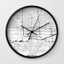 Phoenix Map Gray Wall Clock