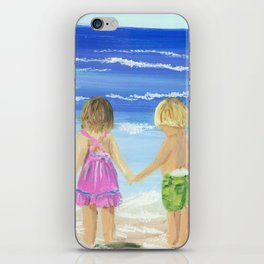 Children by the sea iPhone Skin