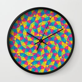 Lively Polyhedron Zoom Wall Clock