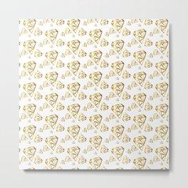 Diamonds - Gold Metal Print