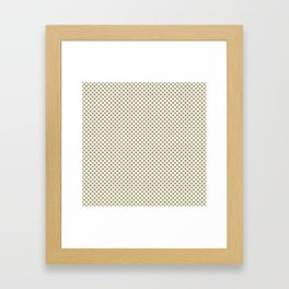 Khaki Polka Dots Framed Art Print