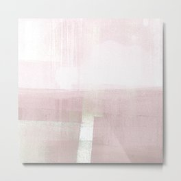 Blush Pink Minimalist Geometric Abstract Landscape Metal Print