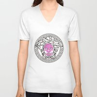 versace V-neck T-shirts featuring VersaXe by gietoso
