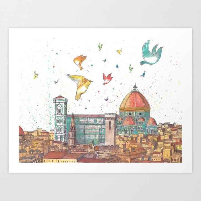 Colors Of Florence Art Print