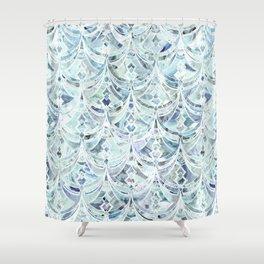 Ice and Diamonds Art Deco Pattern Shower Curtain