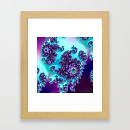 Jewel Tone Fractal Framed Art Print