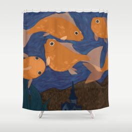 Starry Fish Shower Curtain
