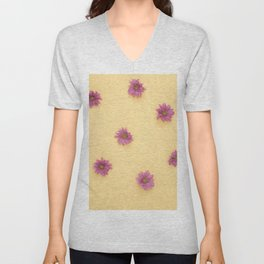Flowers Pattern Unisex V-Neck