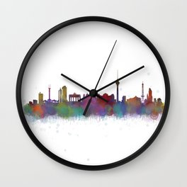 Berlin City Skyline HQ4 Wall Clock