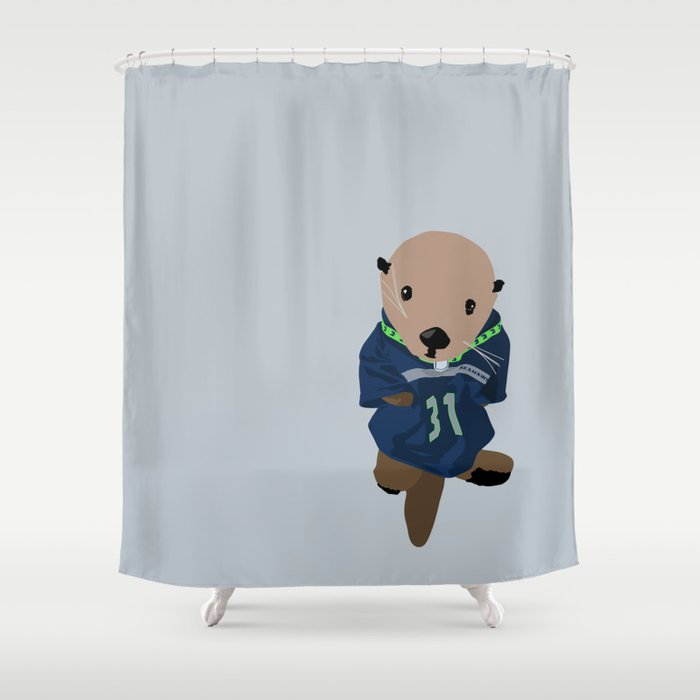 The Littlest Seahawks Fan Shower Curtain