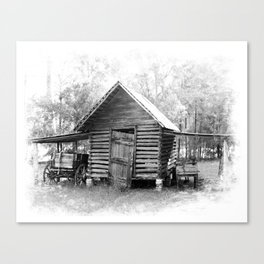 Corn Crib Canvas Print